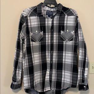 American Rag Men's plaid button down  shirt XXL